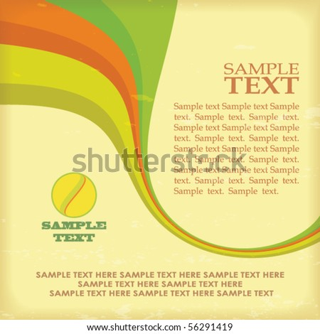 Abstract retro layout with color line. Vector