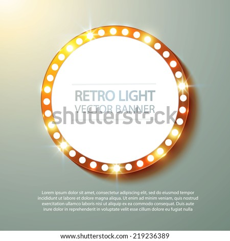 Abstract retro light banner. Vector illustration
