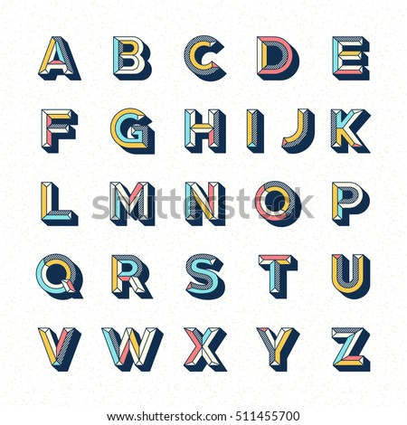 abstract retro pop font