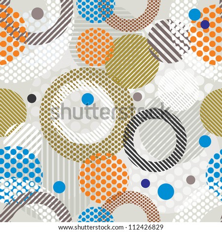 Abstract retro style seamless pattern, vector background.
