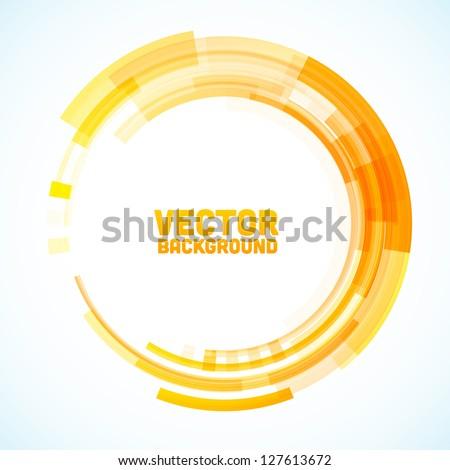 Stock Photo Abstract retro technology circle. Vector illustration.