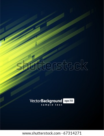 Abstract retro technology lines in perspective vector background