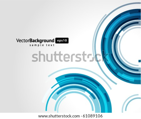 Abstract retro technology lines vector background