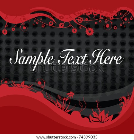 abstract retro vector design with floral frame for text over halftone