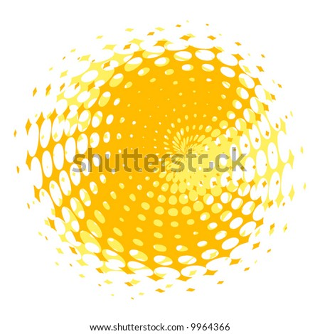 abstract retro vector dots halftone wave
