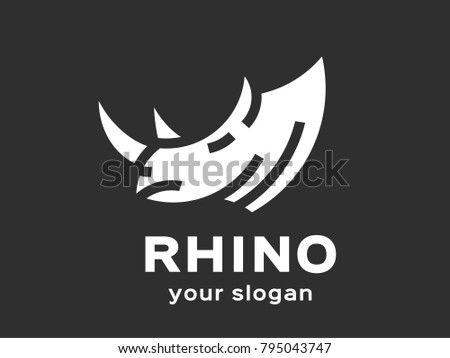abstract rhino logo template