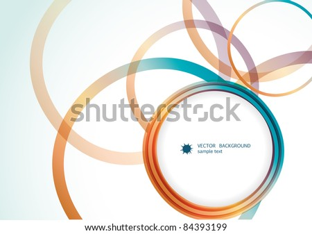 Abstract ribbon background