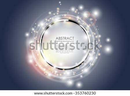 abstract ring background metal