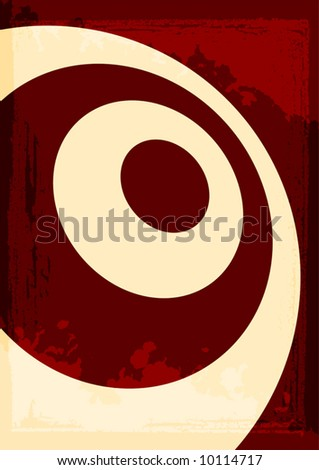 Abstract rings grunge background vector illustration.