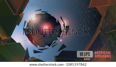 abstract robot triangle sphere