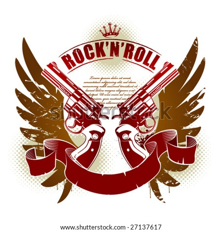 abstract rock n roll image with