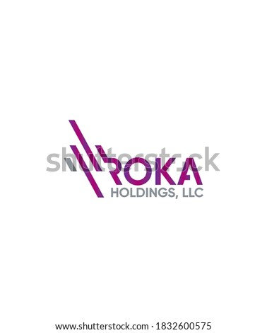 Abstract Roka Holdings logo template, Vector logo for business and company identity  Stok fotoğraf ©