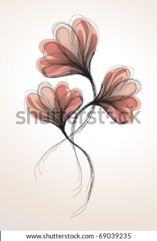Abstract romantic flowers
