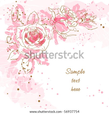 abstract romantic vector