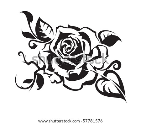stock vector : abstract rose