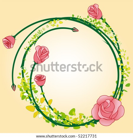 flower clip art rose. flower frame clipart.