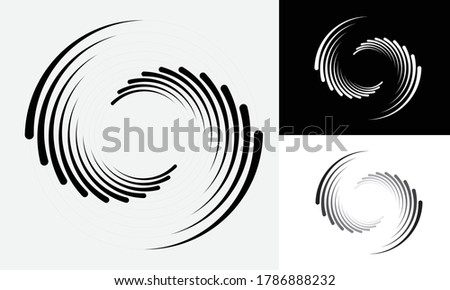Abstract rotated lines in circle form as background. Design element for prints, logo, sign, symbol and textile pattern Photo stock ©