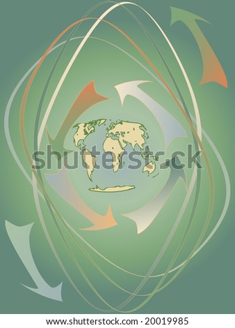 abstract rotation around earth. Vector
