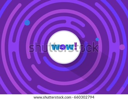 abstract round comic wow