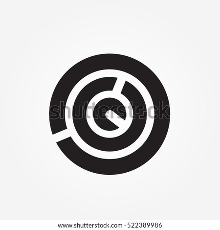 Abstract Round Maze Logo Symbol Of The Labyrinth And Infinity Ez