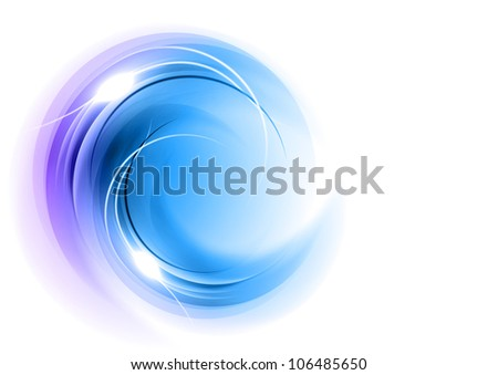 abstract round shape in the blue