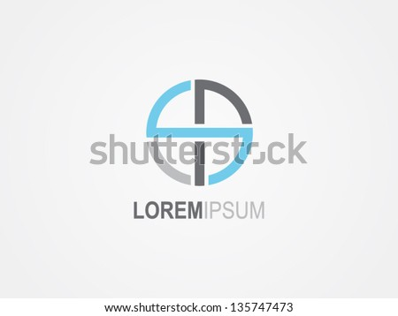 abstract round symbol