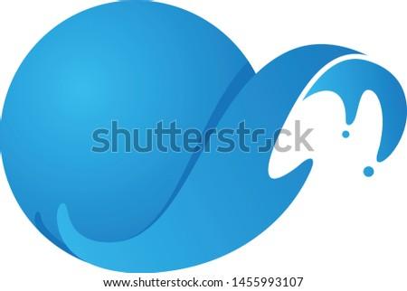 Abstract round water splash on the white background. Water splash for element design. Vector illustration EPS.8 EPS.10
