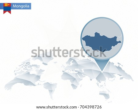 Mongolia map infographic download free vector art stock graphics abstract rounded world map with pinned detailed mongolia map vector illustration publicscrutiny Gallery