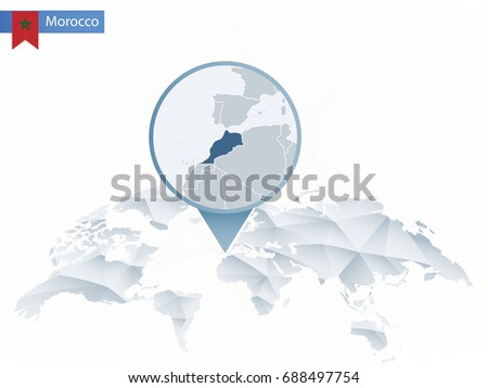 Morocco map vector download free vector art stock graphics images abstract rounded world map with pinned detailed morocco map map and flag of morocco gumiabroncs Image collections