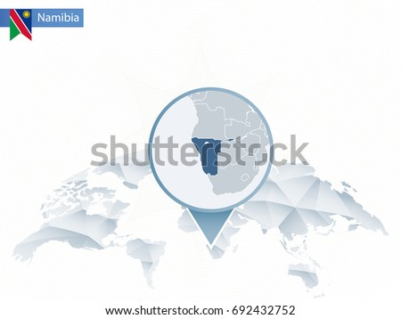abstract rounded world map with