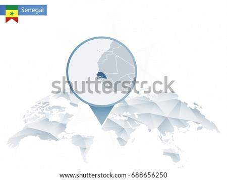 Dakar Senegal Free Vector Art Free Downloads - Senegal map vector