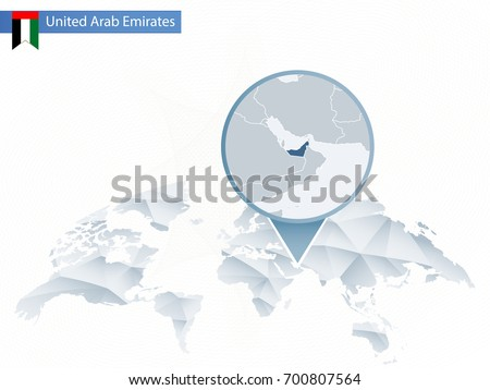 Free uae map vector download free vector art stock graphics abstract rounded world map with pinned detailed united arab emirates map map and flag of gumiabroncs Image collections