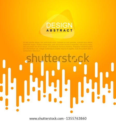 Abstract rounded yellow lines. Halftone transition. For your design poster, greeting card, photo album, banner. Vector illustration. Isolated on white background. #1355763860