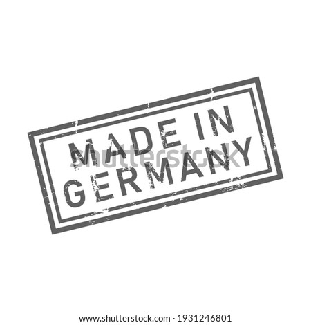 Abstract Rubber seal button stamp with text Made in Germany icon isolated on white background.Design template element for Deutsche products banner.Vector illustration. Stock foto ©