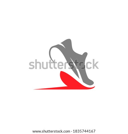 abstract running shoe symbol on
