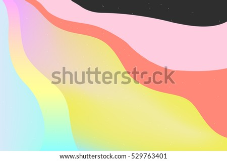 abstract 70's style rainbow
