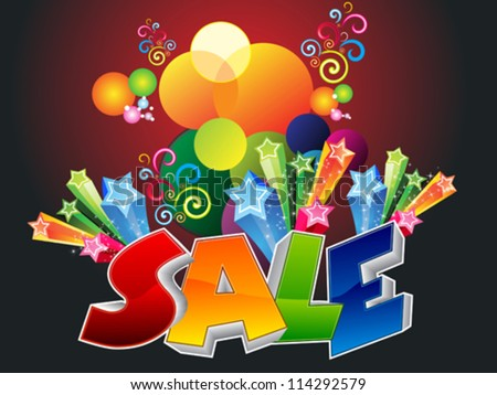 abstract sale background vector illustration
