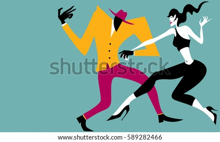 abstract salsa dancers  simple