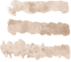 Abstract sand beige watercolor hand paint texture, isolated on white background, watercolor textured backdrop, watercolor drop, traced, vector, eps 10