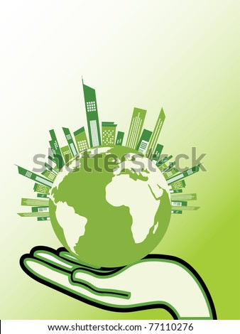 abstract save earth concept background, vector illustration