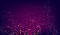 Abstract science background. Futuristic technology 3d vector backdrop with particles wave