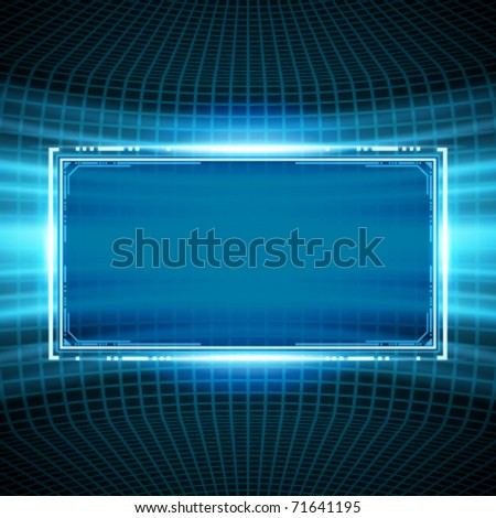 Abstract science wire with smooth light vector background. Eps 10.