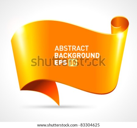 Abstract scroll paper vector background eps 10