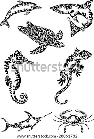 abstract sea creatures
