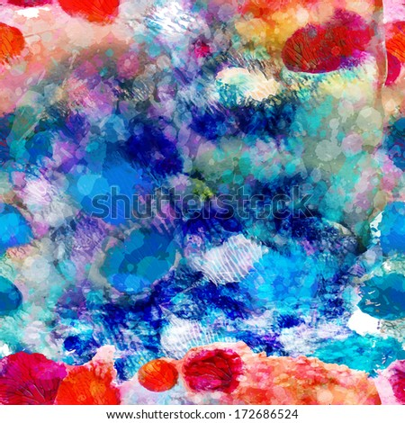 Abstract sea seamless pattern. Vector illustration, EPS 10
