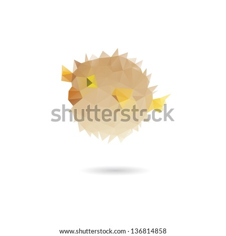 Abstract sea urchin isolated on a white backgrounds