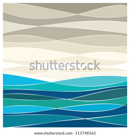 abstract sea vector background