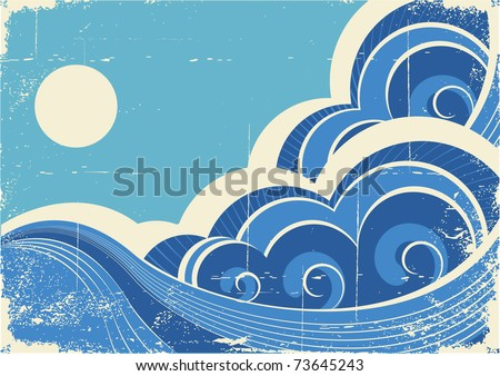 abstract sea waves. vector...