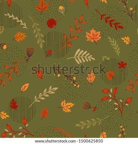 abstract seamless autumn