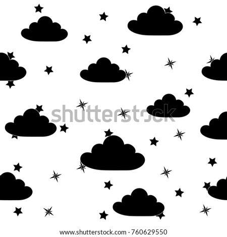 abstract seamless baby star...
